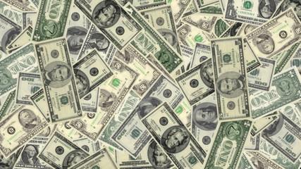 Animated American Money Rotate (loop)