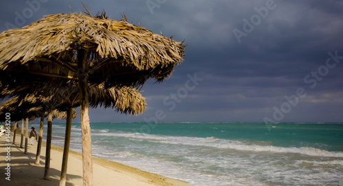 wood umbrella in cuba
