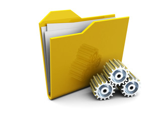folder icon with gear wheels