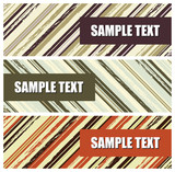 vector set of grunge stripes banners (headers) poster