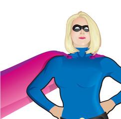Superhero Woman Closeup No Background