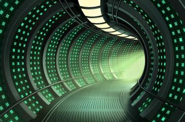 3D rendering of a hallway
