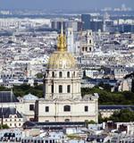 dome des invalides paris france cityscape view poster