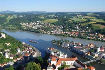 Passau - Ortspitze - Luftaufnahme