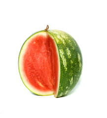 Seedless watermelon isolated on white background