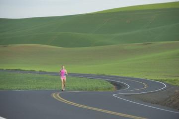 Runner on Rural Road