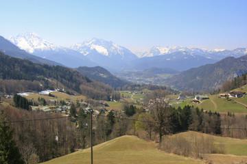 Alpenblick bei der Fahrt über die Rossfeldstrasse