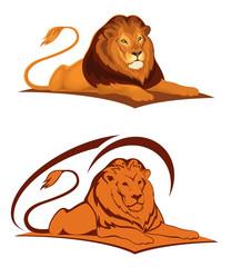 Lying lion