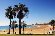 Barcelona strand spanien