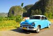 vintage oldtimer car in vinales, cuba