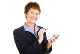 Mature Competent Businesswoman poster