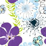 Fototapety seamless floral wallpaper