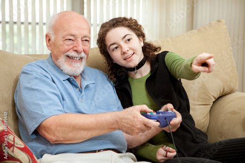 poster of Teen Helps Grandpa with Video Game