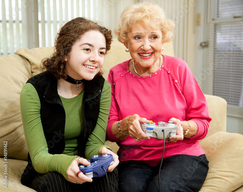 poster of Video Game Fun with Grandma