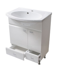 Basin and cabinet. File includes clipping path