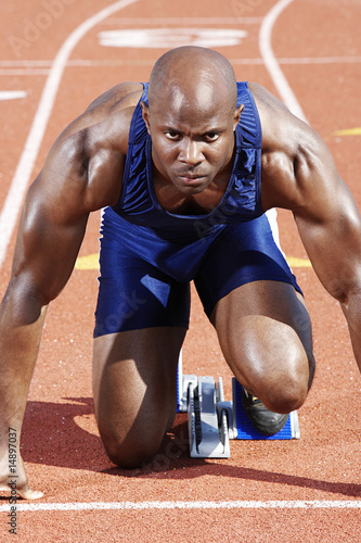 Track Athlete on starting block