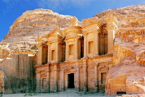 Fotobehang Midden Oosten monastery petra jordan