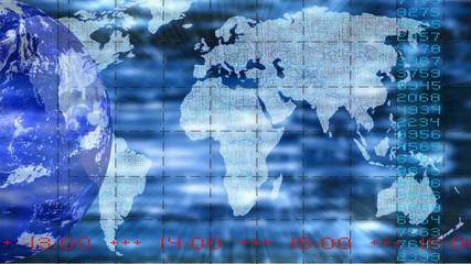 Fernsehhintergrund Blau
