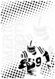 american football dots poster background 2