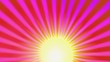 Animation fond disco jaune violet rose