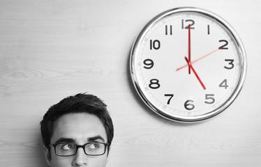 Businessmen and Clock