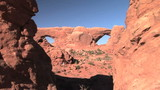 North and South Window through Turret Arch, Arches N.P. poster