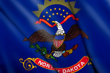 Flag pin - North Dakota (USA)