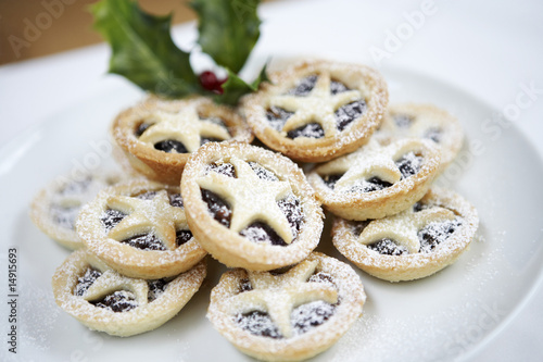 Mince pies, close up