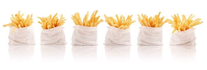 Six french fries packs