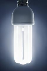 Energy saving lightbulb, studio shot