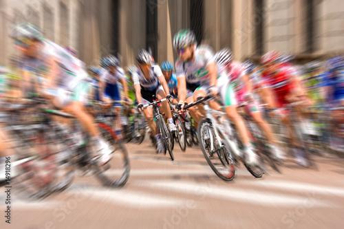 Poster Fietsen Ciclisti al tour