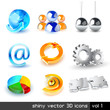 vector set od shiny 3d icons
