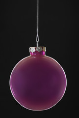Purple Christmas bauble, close-up