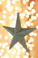 Christmas star ornament, close-up