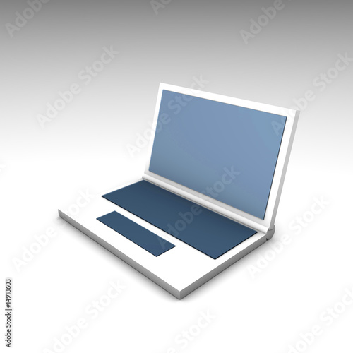 Blue White Netbook