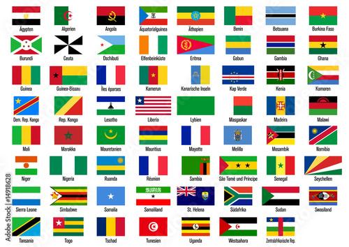 flaggen mit ländernamen