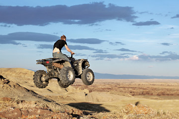 teen on quad ATV - four wheeler