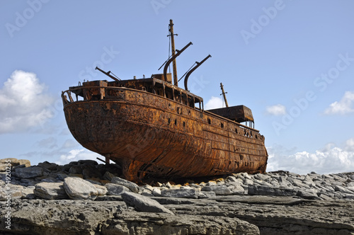 old rusty ship wreck