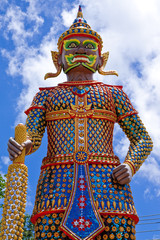 Giant statue in traditonal Thai style