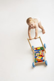Baby Pushing Cart of Blocks