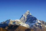 fishtail peak in himalaya nepal poster