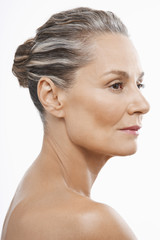 Middle-Aged Woman, hair back