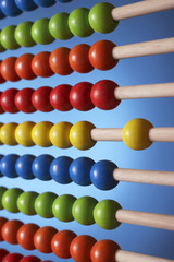 Abacus, close up of rows of beads