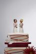 Bridesmaid Figurines on Wedding Cake