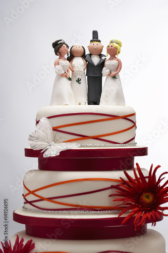 Wedding Cake with Funny Figurines
