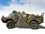 armoured landing troop-carrier with clipping path