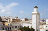 mosque and rooftops essaouira morocco poster