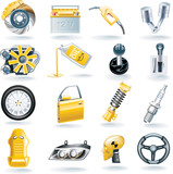 Fototapety Vector car parts icon set