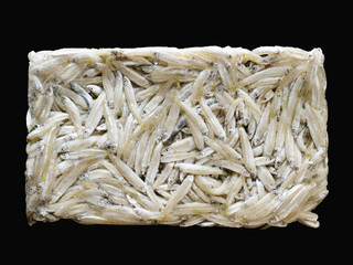 Rectangular block of dried whiting