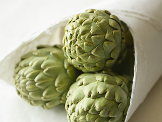 Artichokes in Package, close-up